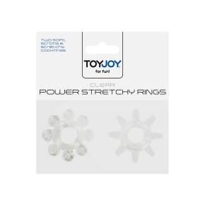 Power Stretchy Rings Erekční kroužek 2ks - transparentní